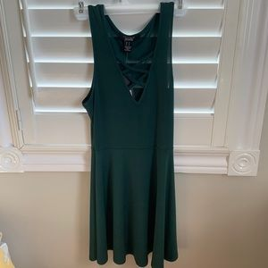 Fit and flare mini dress